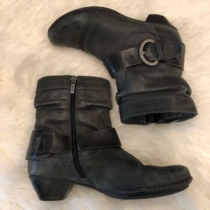 Pikolinos 37 Grey Leather Slouchy Ankle Booties